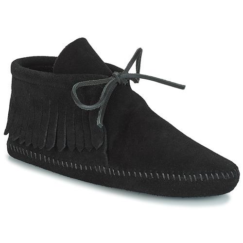 Shoes Women Mid boots Minnetonka CLASSIC FRINGE Black