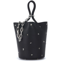 Bags Women Shopping Bags / Baskets Alexander Wang Roxy black leather handbag with studs Black