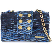 Bags Women Shoulder bags Kooreloo Athena blue and light blue braided fabrics shoulder bag Blue