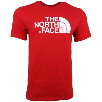 Clothing Men short-sleeved t-shirts The North Face M SS Easy Tee red