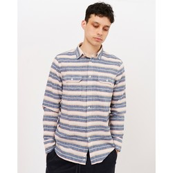 Clothing Men long-sleeved shirts Penfield Hammat Indigo Stripe Shirt Navy Blue
