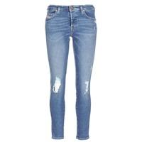 Clothing Women slim jeans Diesel BABHILA Blue / 084wp
