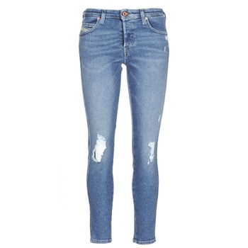 Clothing Women slim jeans Diesel BABHILA Blue / 084wp