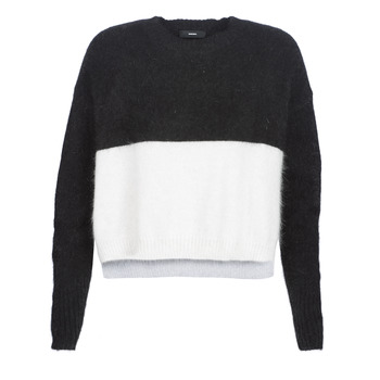 Clothing Women jumpers Diesel M AIRY Black / White
