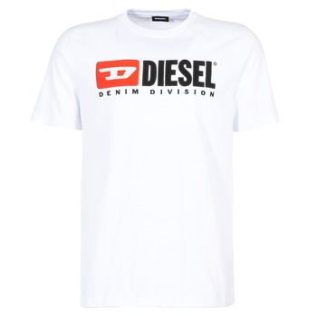 Clothing Men short-sleeved t-shirts Diesel T JUST DIVISION White