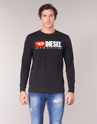 Clothing Men Long sleeved tee-shirts Diesel T JUST LS DIVISION Black