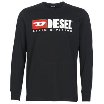 Clothing Men Long sleeved tee-shirts Diesel T JUST LS DIVISION Black