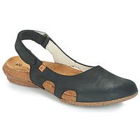 Shoes Women Sandals El Naturalista WAKATAUA Black