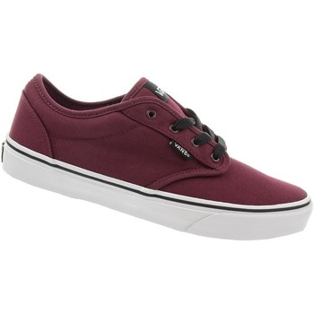 Shoes Children Low top trainers Vans Atwood Burgundy-White-Black