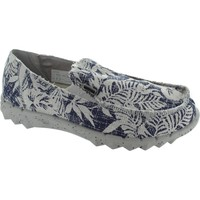 Shoes Men Loafers Hey Dude Farty Print Navy Flower