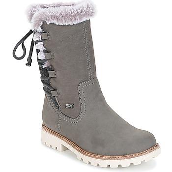 Shoes Women High boots Rieker  Grey