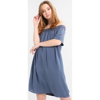 Clothing Women Short Dresses Jacqueline De Yong VESTIDO  JDYFAME OFFSHOULDER S/S DRESS AZUL