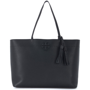 Bags Women Small shoulder bags Tory Burch McGraw black tumbled leather shopper Black