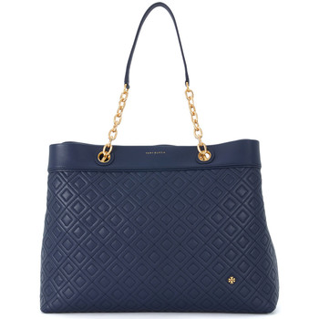 Bags Women Small shoulder bags Tory Burch Flaming Center-Zip blue leather shoulder bag Blue