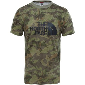 Clothing Men short-sleeved t-shirts The North Face M S/S Easy Tee Eng. Green Camiseta, Hombre VERDE