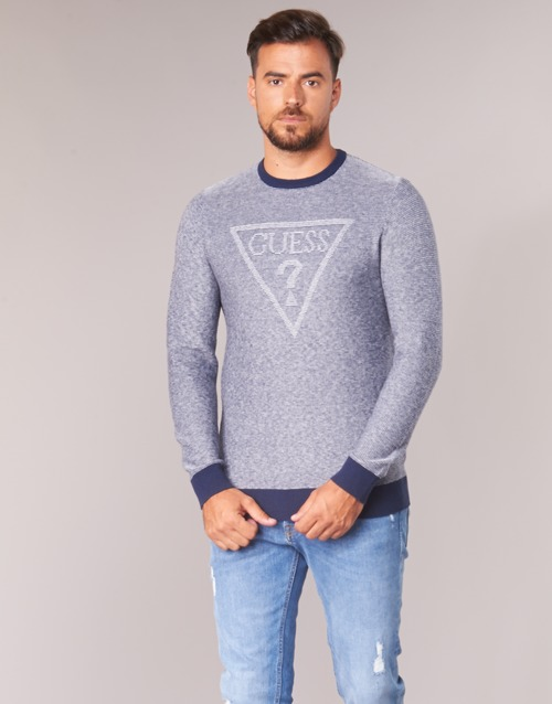 Clothing Men jumpers Guess TAMAC Blue