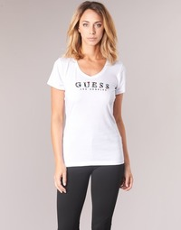 Clothing Women short-sleeved t-shirts Guess GIPSY White