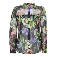 Clothing Women Shirts Guess CLOUIS Black / Multicoloured