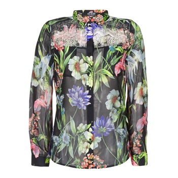 Clothing Women Shirts Guess CLOUIS Black / Multicoloured