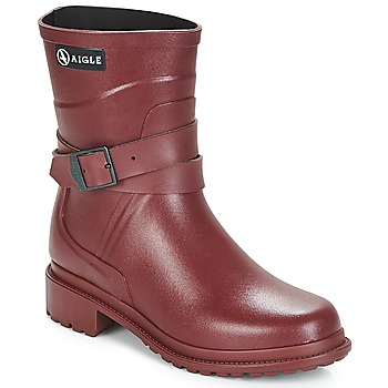 Shoes Women Wellington boots Aigle MACADAMES MID Bordeaux