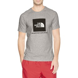 Clothing Men short-sleeved t-shirts The North Face M S/S Rag Red Box Te Camiseta GRIS