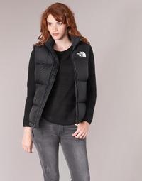 Clothing Women Duffel coats The North Face NUPTSE VEST Black