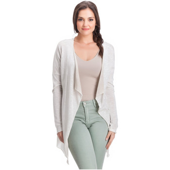 Clothing Women Jackets / Cardigans Laura Moretti Cardigan PLESSY Beige Woman Autumn/Winter Collection Beige