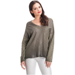 Clothing Women Tops / Blouses Laura Moretti Pullover DAPHNY Green Woman Autumn/Winter Collection Green