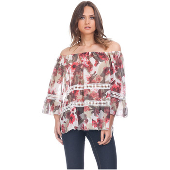 Clothing Women Tops / Blouses Laura Moretti Blouse ZELIA Red Woman Autumn/Winter Collection Red