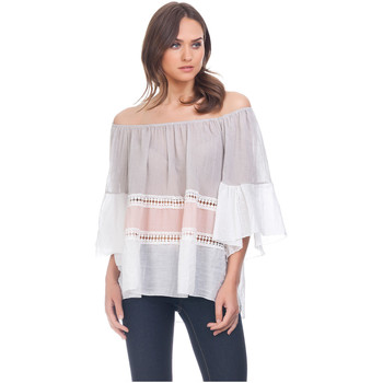 Clothing Women Tops / Blouses Laura Moretti Blouse ZUMA Grey F Grey
