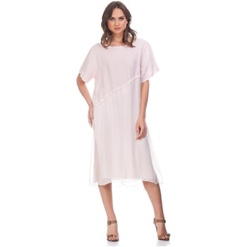 Clothing Women Long Dresses Laura Moretti Dress YZY Pink Woman Autumn/Winter Collection Pink