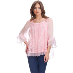 Clothing Women Tops / Blouses Laura Moretti Blouse MAYA Coral Woman Autumn/Winter Collection Coral