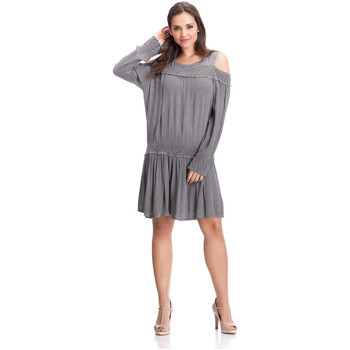 Clothing Women Short Dresses Laura Moretti Dress YONDA Grey F Grey