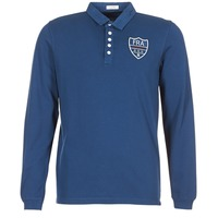Clothing Men long-sleeved polo shirts Serge Blanco POLO France Blue