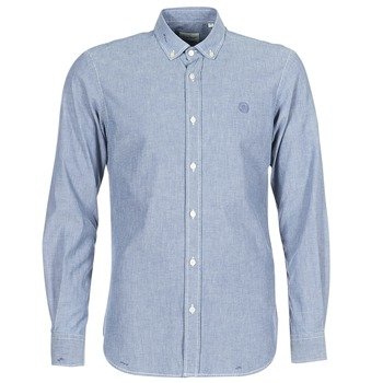 Clothing Men long-sleeved shirts Serge Blanco 15 DOS Blue