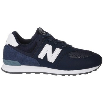 Shoes Children Low top trainers New Balance GC574D4 White-Navy blue
