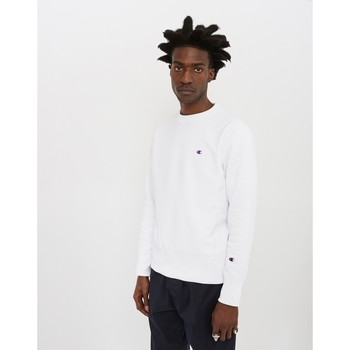 Clothing Men jumpers Champion Reverse Weave Crewneck Sweatshirt White White
