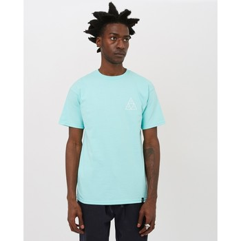 Clothing Men T-shirts & Polo shirts Huf Triple Triangle T-Shirt Blue Blue