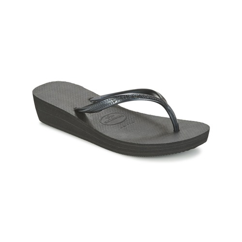 Shoes Women Flip flops Havaianas HIGH LIGHT Black