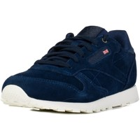 Shoes Children Low top trainers Reebok Sport CL Leather Mcc Navy blue