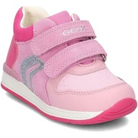 Shoes Children Mid boots Geox B640LB Pink