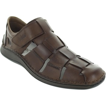 Shoes Men Sandals Rieker 05273-25 Brown