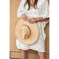 Clothes accessories Women Hats Amenapih Straw hat , Nature/Gold - Cyprus Sand