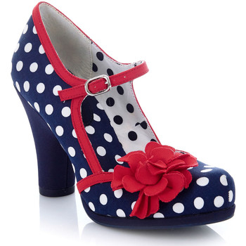 Shoes Women Heels Ruby Shoo Ruby Shoo Ladies Hannah High Heel Mary Jane Shoe Navy Spots
