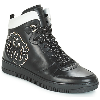 Shoes Men Hi top trainers Roberto Cavalli TEKSA Black