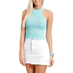 Clothing Women Tops / Blouses Infinie Passion Top green 00W038838 Green F Green