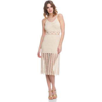 Clothing Women Dresses Laura Moretti Dress LRCP8N1004 Beige Woman Spring/Summer Collection 2018 Beige