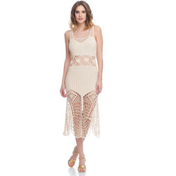 Clothing Women Dresses Laura Moretti Dress LRCP8N1005 Beige F Beige