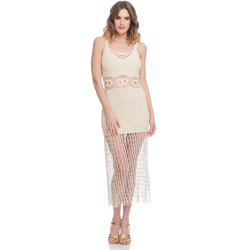 Clothing Women Dresses Laura Moretti Dress LRCP8N1006 Beige F Beige