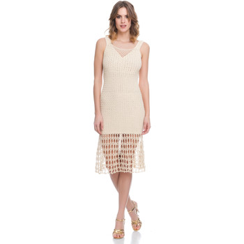 Clothing Women Dresses Laura Moretti Dress LRCP8N1007 Beige Woman Spring/Summer Collection 2018 Beige